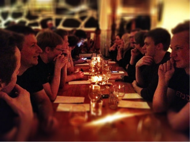 Memoto team dinner, the night before launch