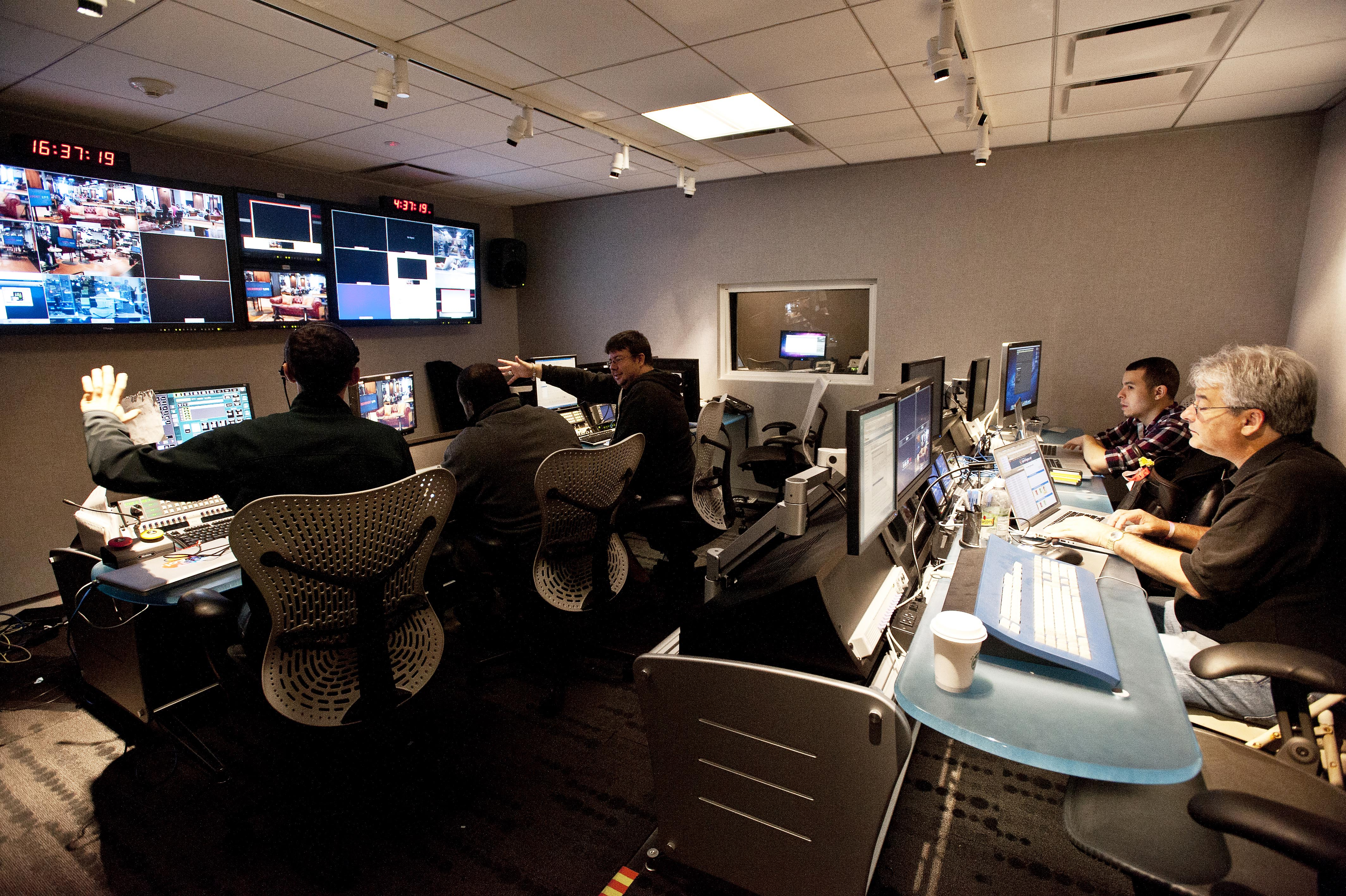 The HuffPost Live control room