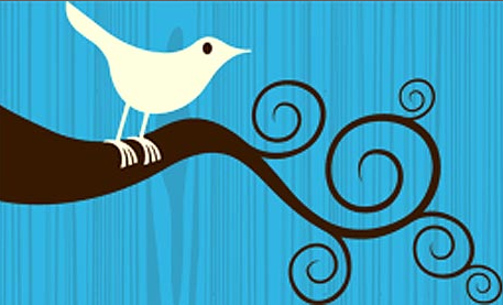 Original twitter bird, designed by Simon Oxley