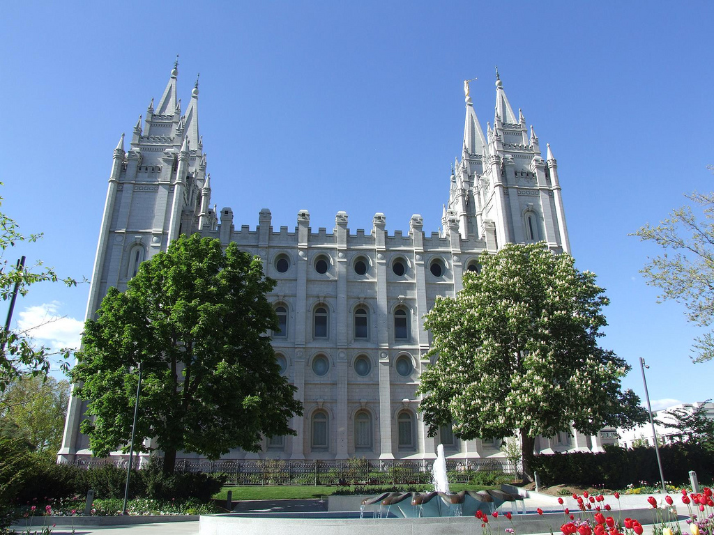 Temple Square, Mormonism's spiritual headquarters.