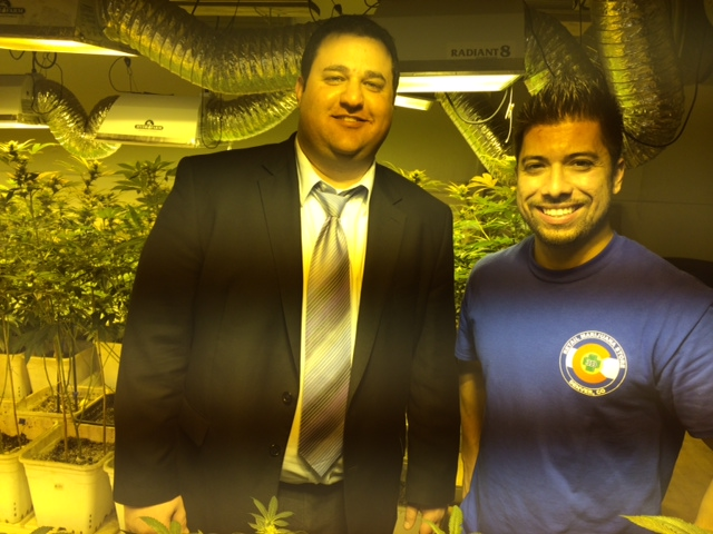 MPP communications director Mason Tvert and 3D Cannabis Center's David Martinez