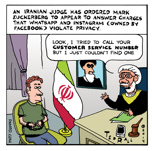 Zuckerberg in Iran